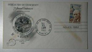 American FDC Society Conv Newark NJ NOJEX 1962 Philatelic Expo Cachet Cover
