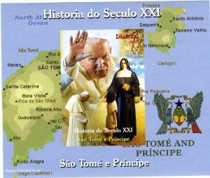 Sao Tome & Principe 2004 Pope John Paul II Deluxe s/s mnh.vf