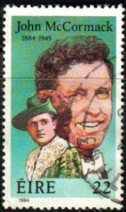 Singer, John McCormack, Ireland stamp SC#594 used