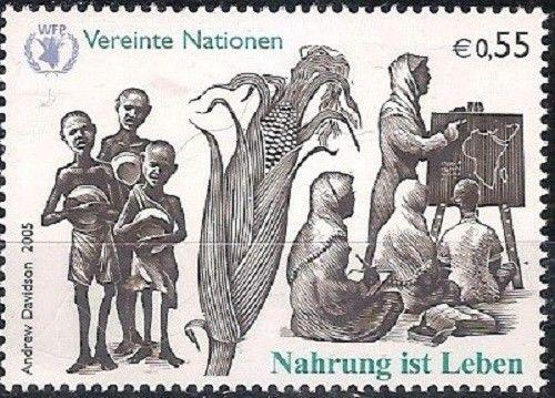 United Nations Vienna 2005 Food for Life SC#373-374 MNH