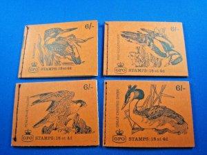 GREAT BRITAIN 1968 COMPLETE MNH STAMP BOOKLETS -  6/ - LOT OF 4    (kbgbbk8)