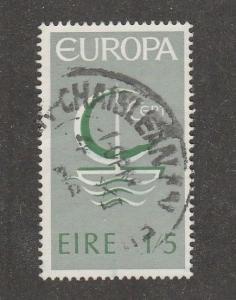 Ireland Scott# 217,  used, gray green , symbolic sailboat,    -#M015