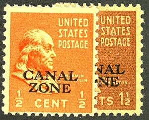 CANAL ZONE #118-119 MINT OG NH