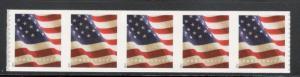 5158 US Flag Strip Of 5 (BCA) Mint/nh (Free Shipping)