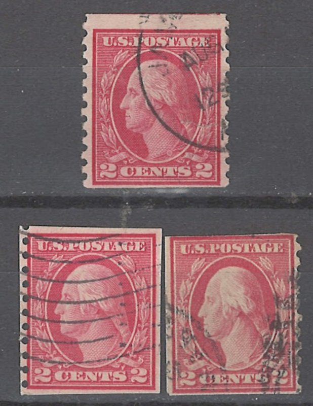 COLLECTION LOT # 2253 UNITED STATES 3 COIL STAMPS 1912+ UNCHECKED STUDY