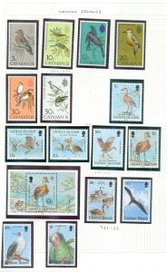 CAYMAN ISLANDS: Beautiful collection. All VF MNH. Topicals Scott Catalog $174.00