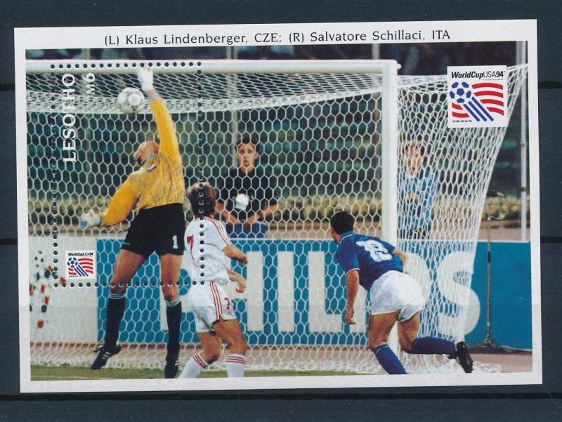 [59582] Lesotho 1994 World Cup Soccer Football USA Lindenberger MNH Sheet
