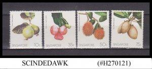 SINGAPORE - 1986 FRUITS 4V MINT NEVER HINGED