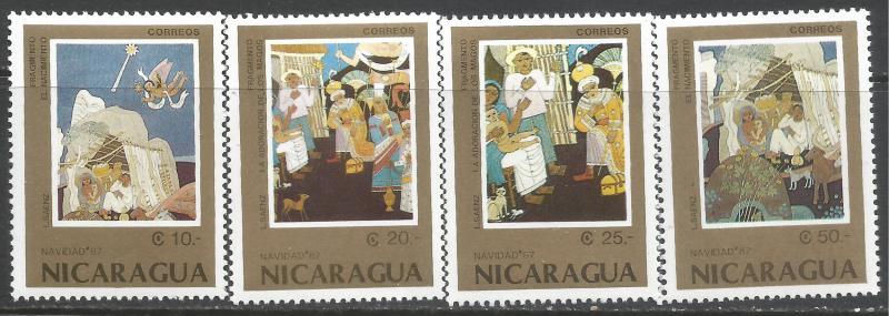 NICARAGUA 1671-74 MNH CHRISTMAS Z2437-2
