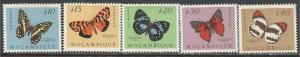 MOZAMBIQUE 364-68 MOG BUTTERFLIES W041