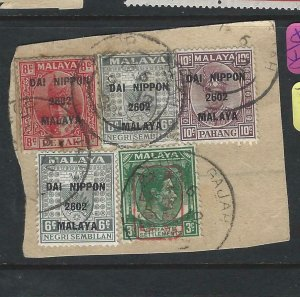 MALAYA JAPANESE OCCUPATION (PP2008B)STRAITS 3C CHOP+NS DN 6CX2+PAHANG 10C+8V PER