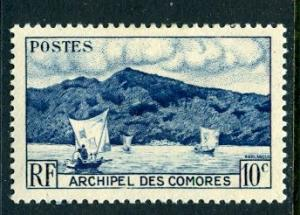 Comoro Islds.; 1950: Sc. # 30; *+/MLH Single Stamp