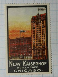 New Kaiserhof Hotel Cafe Chicago Company Brand Ad Poster Stamp