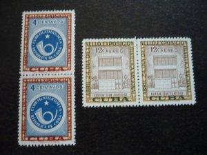 Stamps - Cuba - Scott#570 & C156 - MNH Set in Pairs