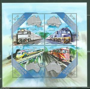 SOLOMON ISLANDS  2013 TRAINS SHEET MINT NH