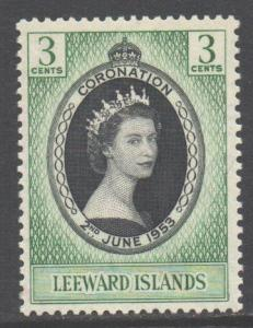 Leeward Is Scott 132 - SG125, 1953 Coronation 3c MH*