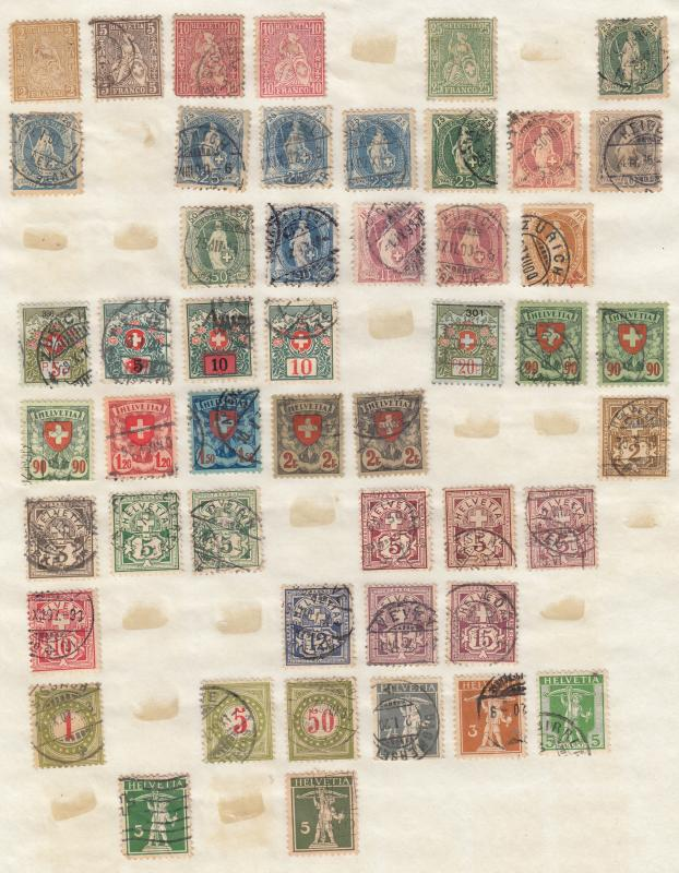 Switzerland - small stamp collection - (1783)