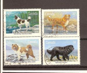 CANADA SET ON DOGS USED STAMPS LOT#206