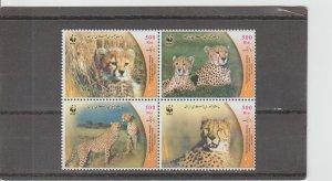 Iran  Scott#  2876  MNH  Block of 4  (2003 Cheetahs)