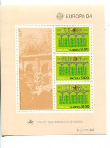 Portugal  Madeira 1984 Europa mini sheet   Mint VF NH