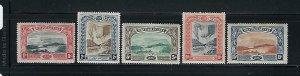 BRITISH GUIANA SCOTT #152-156 1898 QUEEN VICTORIA JUBILEE - MINT  LIGHT HINGED