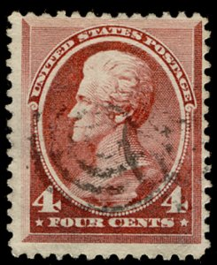 US #215 VF used, face free cancel,  super nice color,  CHOICE!
