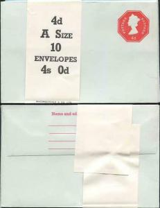 EP98 QEII 4d Post Office Envelope Size O Mint Pack of 10 with Band