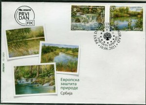 1630 - SERBIA 2021 - European Nature Protection - FDC