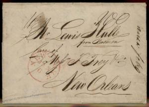 England Britain 1838 New Orleans NYC USA Transatlantic Stampless Cover 77682