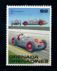 [100242] Grenada Grenadines 1988 Classic Cars 1953 Kurtis Offenhauser  MNH