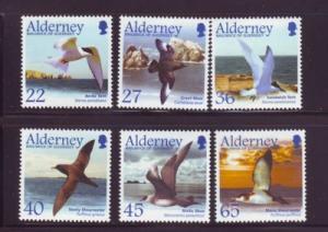 Alderney Sc 209-13 2003 Birds stamp set mint NH