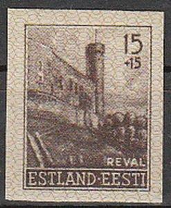 Stamp Germany Estland Mi 04 Sc NB1 1941 WWII EESTI Estonia Occupation Imperf MNH