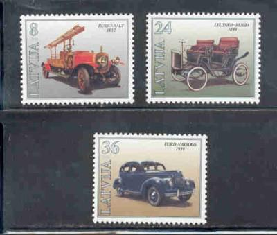 Latvia Sc 426-8 1996 Car Production stamp set