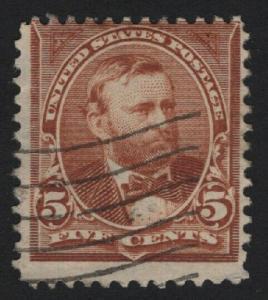 United States USED Scott Number 255 F-VF DL#2  - BARNEYS
