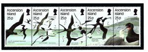 Ascension 430 MNH 1987 Sea Birds Strip of 5