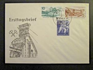 Germany DDR SC# 347 - 349 FDC / Unaddressed / Cacheted - Z4574
