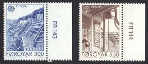 Faroe Islands 1987 MNH 156 - 157 Europa  architecture complete