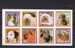 Equatorial Guinea 1978 VARIOUS DOGS Sheet (8) Imperforated Mint (NH)