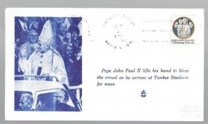 United States, 1768, Visit Pope John Paul II New York Souvenir Cover, Used #1