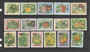 Samoa 1983 Fruits, set to $1 VFU/CTO SG 647/662