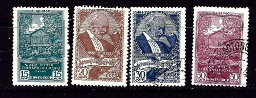 Russia 789-92 No Gum and CTO 1940 issues