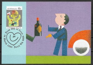 1990 Australia 1171 Community Health: Don't Drink & Drive Maximum Card