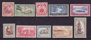 Samoa-Sc#203-12-Unused NH set-KGVI-1952-please note there is a very small brown