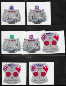 Tonga 392-6, C209-13, CO117-19 1977 Mint NH Sheet Margins Retail $45.80