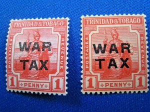 TRINIDAD & TOBAGO  1917  -  SCOTT # MR9  -   MH   (Ht4)