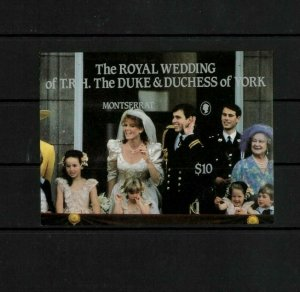 Wholesale Lot Prince Andrew Wedding SS Montserrat #617. Cat.90.00 (18 x 5.00)