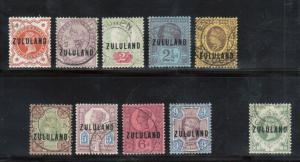 Zululand #1 - #10 Very Fine Used Set