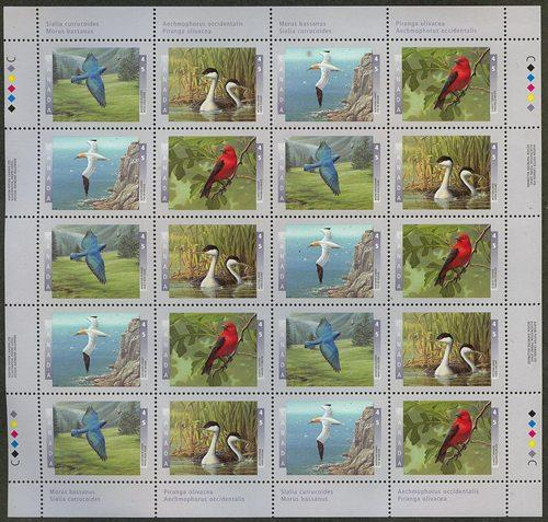 Canada - 1997 Birds in Complete Pane of 20 VF-NH #1634a