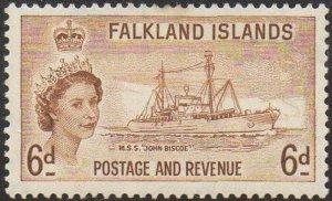 Falkland Islands 1955 6d John Biscoe I (research ship) MH