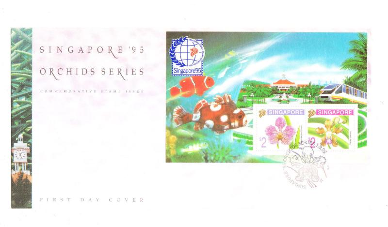 Singapore 1995 Orchid Flower S/S FDC